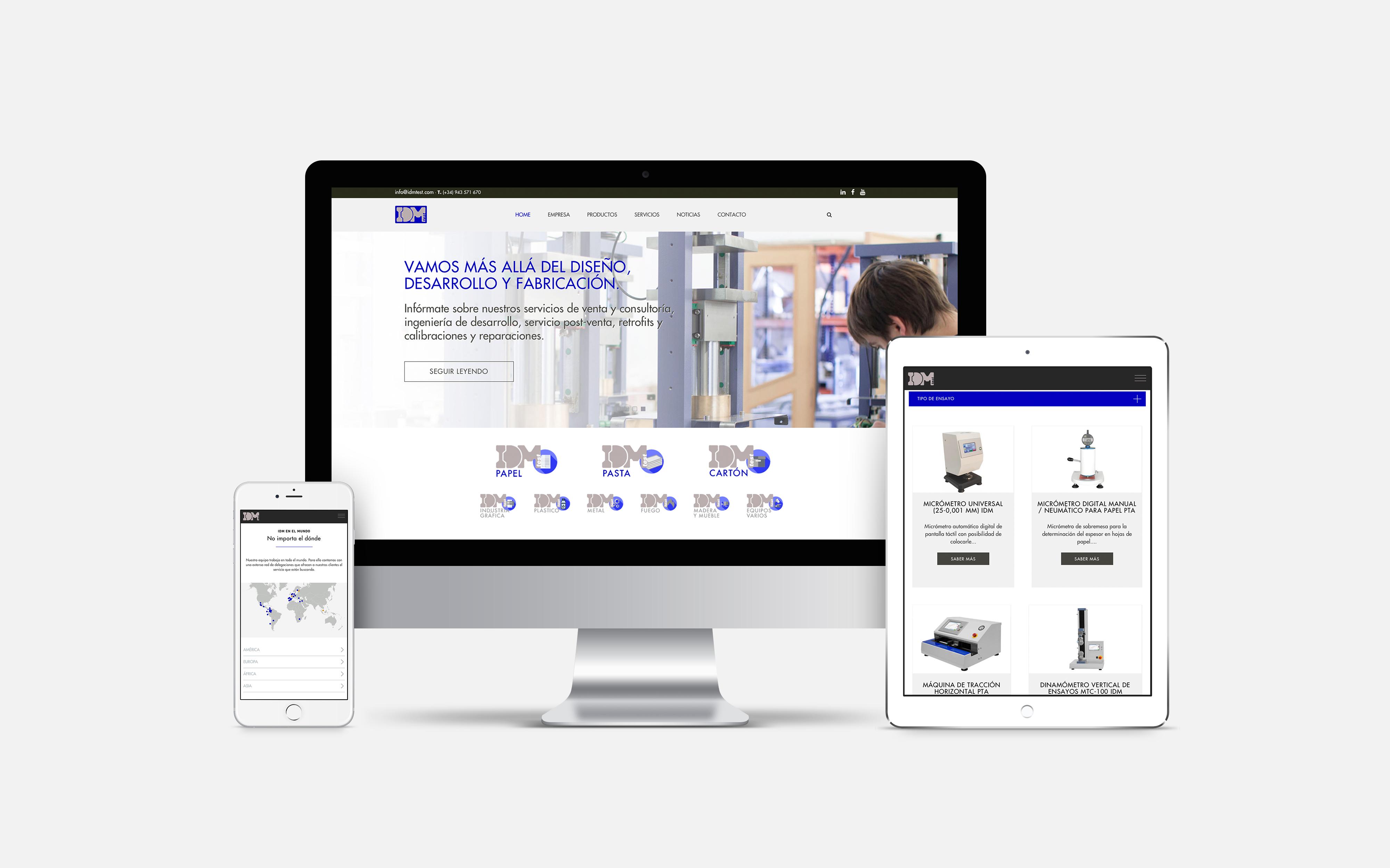 diseño desarrollo web sector industrial donostia