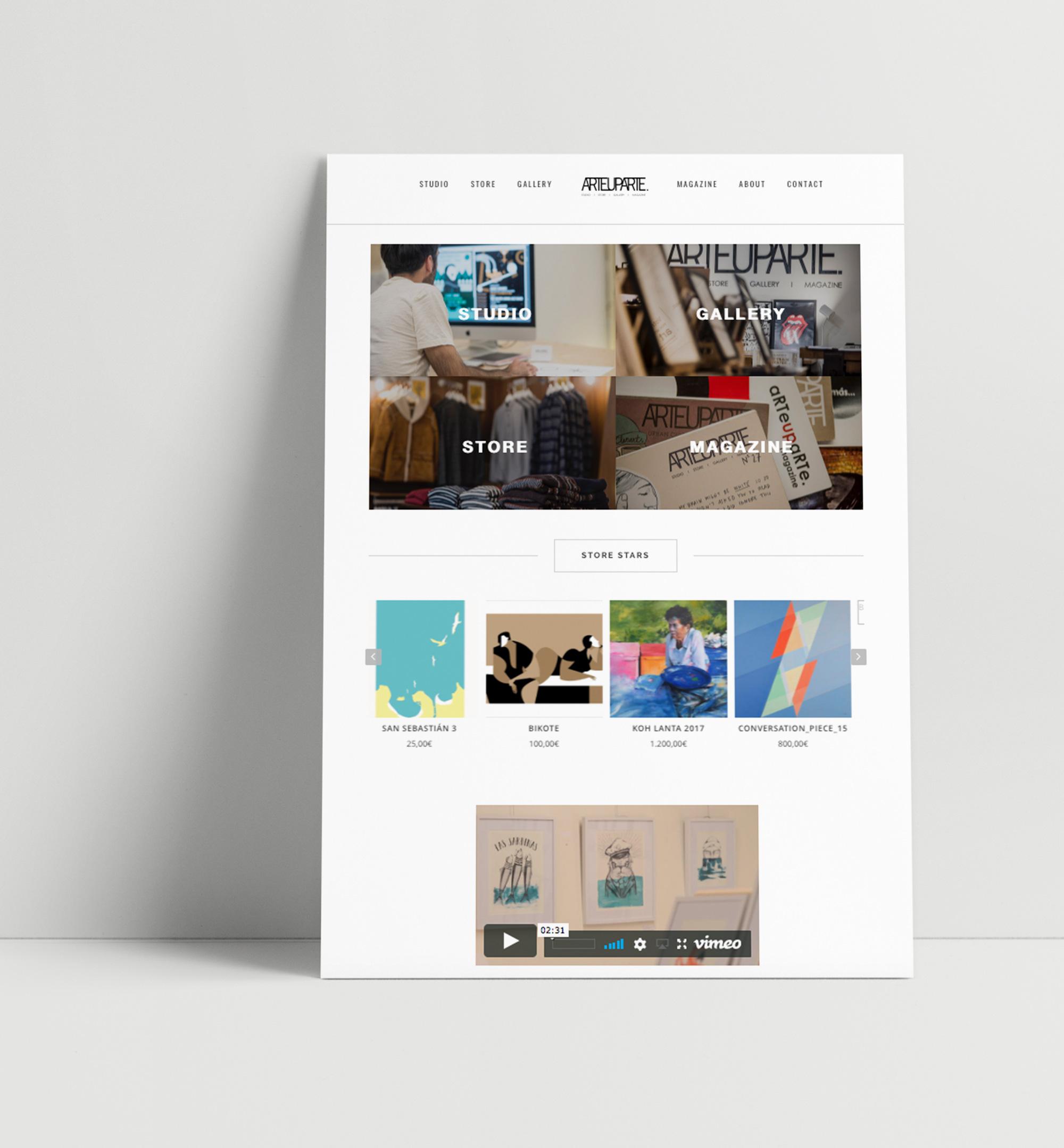 Diseño y desarrollo web de tienda online Donostia