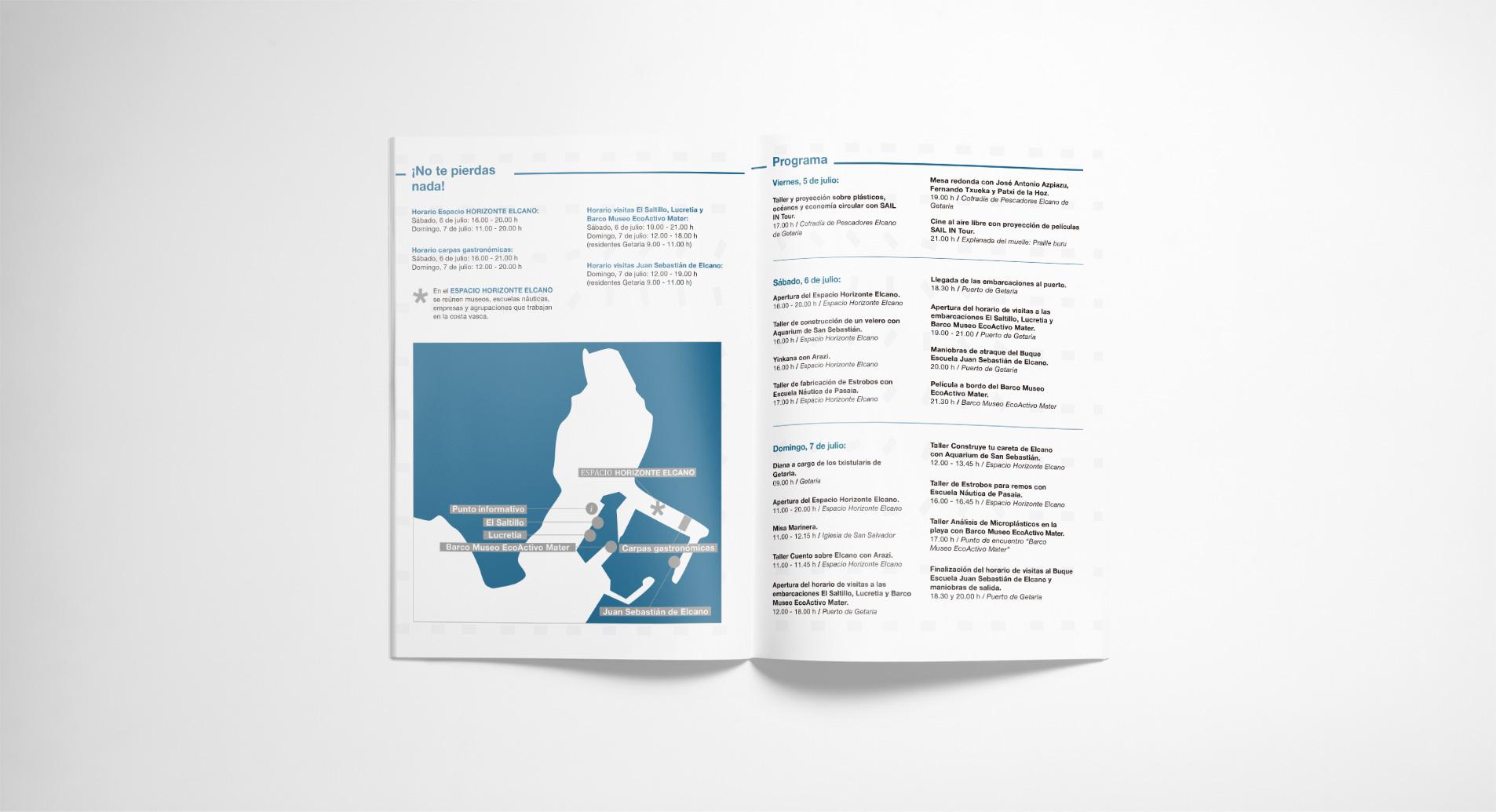 diseño de flyers para evento horizonte elcano