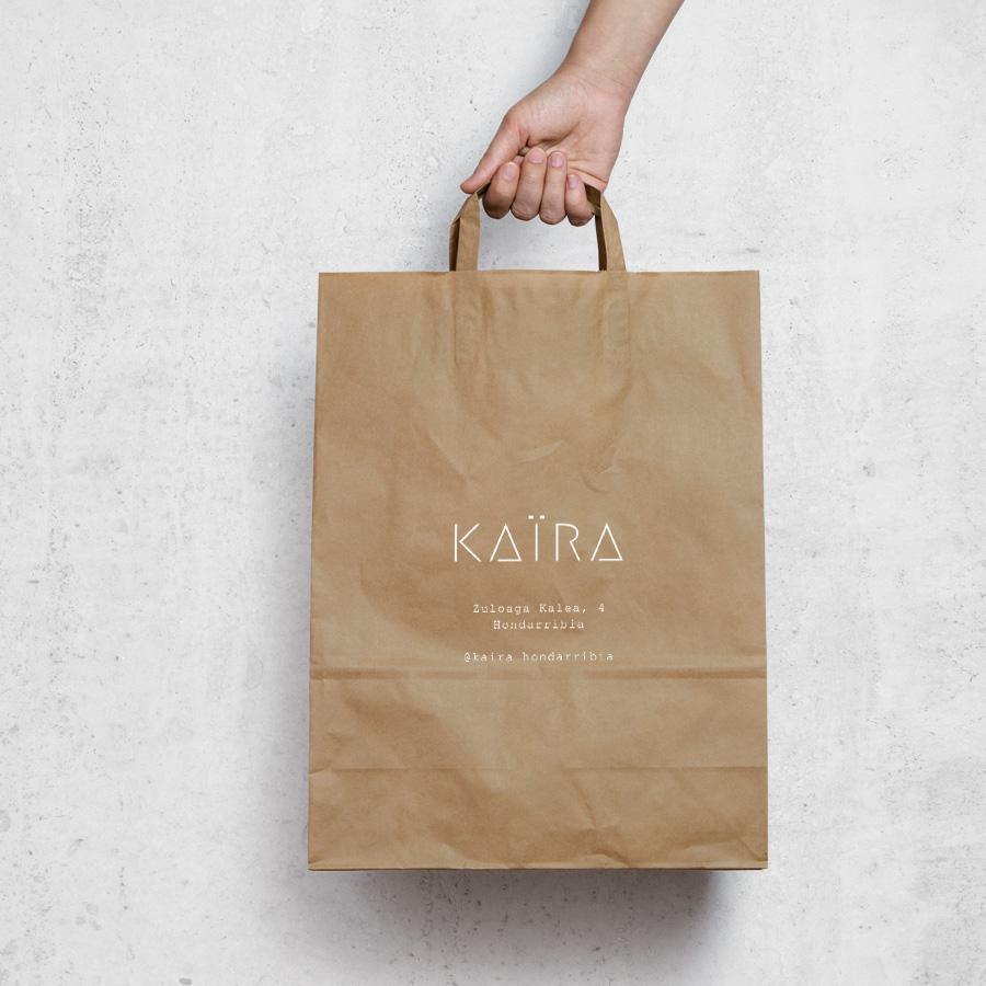 diseño bolsa papel kaira hondarribia