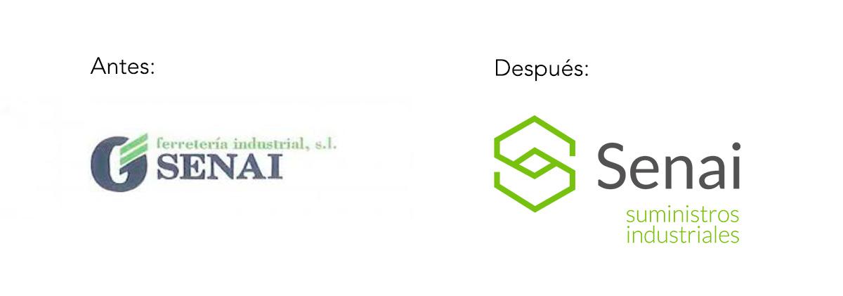 rebranding empresa industrial senai antes y despues
